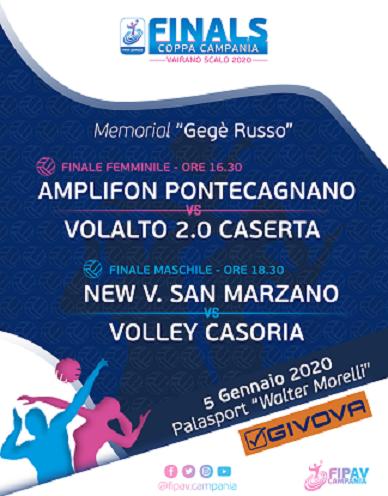 """Finals Coppa Campania a Vairano. Grande evento in memoria di """"Gegè Russo"""""""