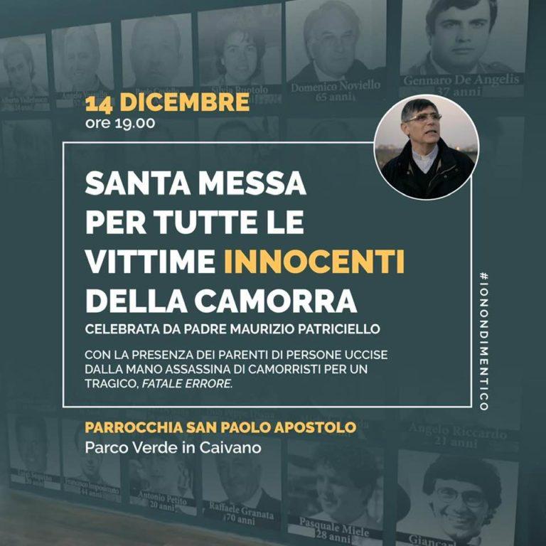 Vittime innocenti uccise dalla camorra, don Patriciello celebra una messa