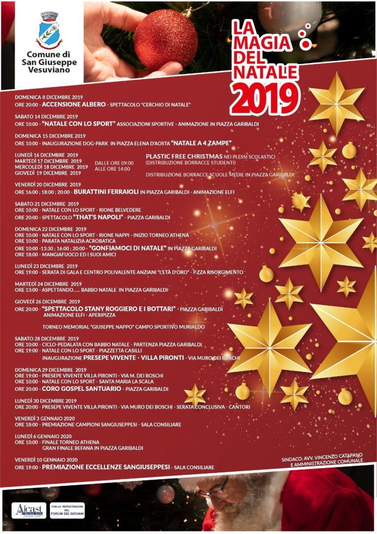 """""""La Magia del Natale 2019"""" a S. Giuseppe Vesuviano: ecco gli eventi"""