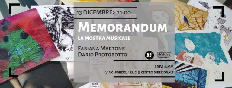 "Napoli. Area35mm ospita Fabiana Martone in ""Memorandum"""