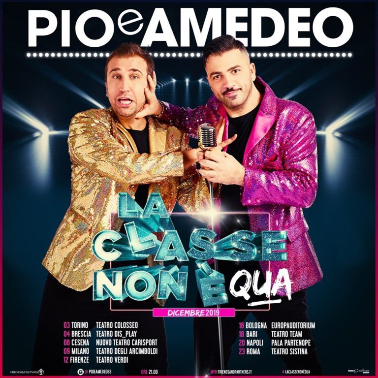 """Teatro Palapartenope, Pio e Amedeo in """"La classe non è qua"""" – 20 dicembre"""