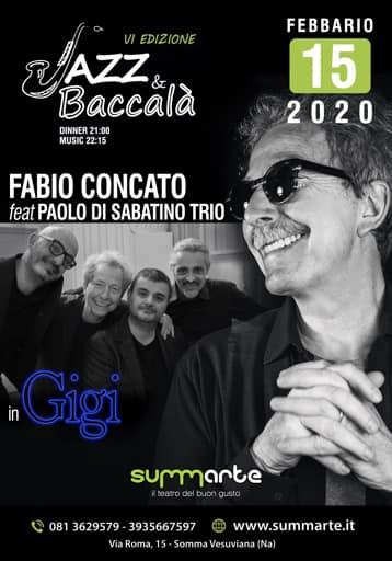 Somma. Al teatro Summarte Fabio Concato e Paolo Di Sabatino Trio