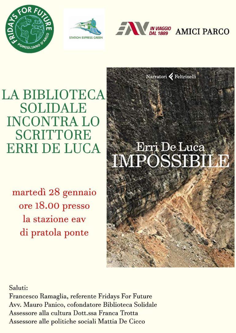 Pomigliano. Erri De Luca presenta l'ultimo libro alla stazione Pratola Ponte