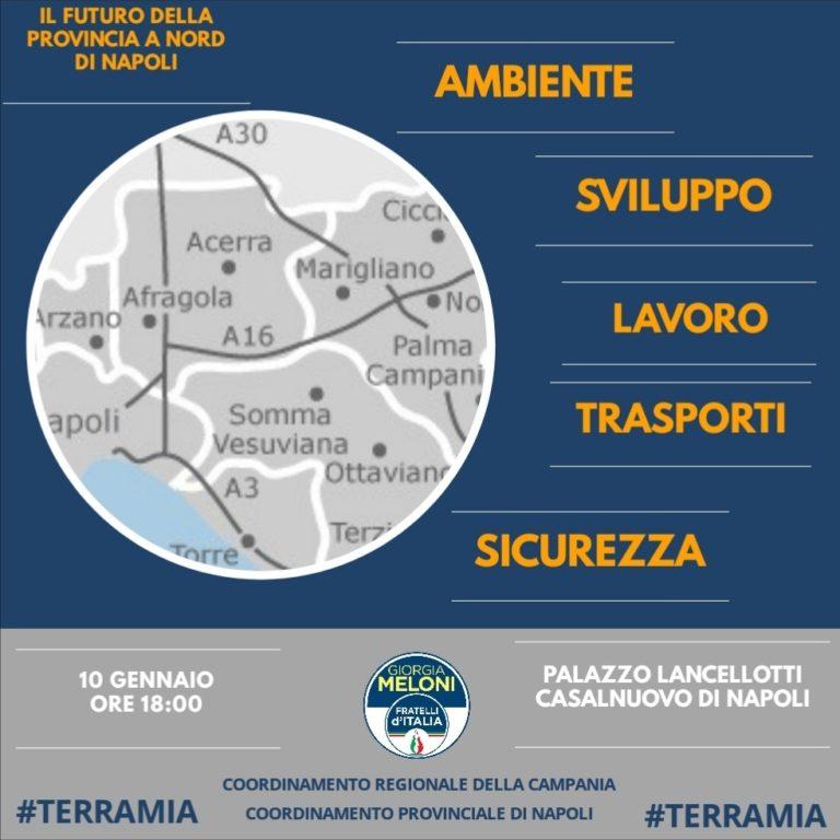 Elezioni Regionali, appuntamento a Casalnuovo con Fratelli d'Italia