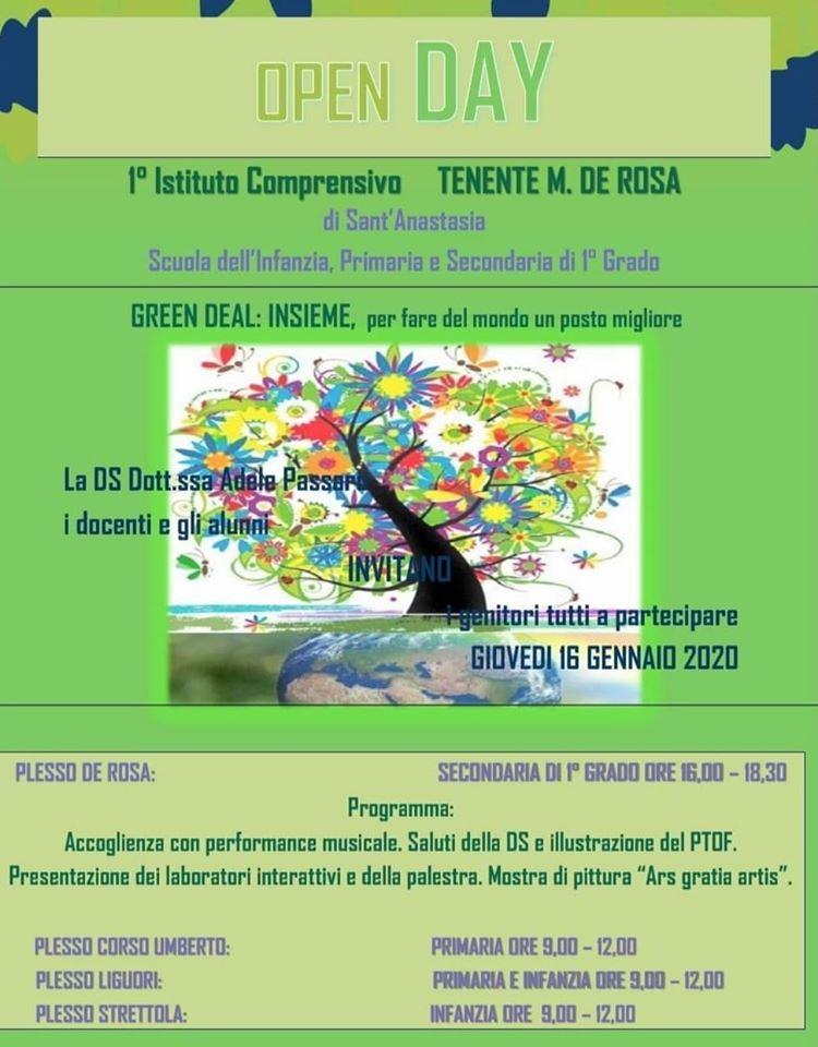 """Open day """"green"""" al comprensivo De Rosa di Sant'Anastasia"""