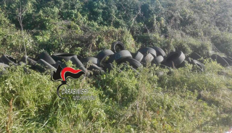 A Pomigliano 200 pneumatici abbandonati, denunciato titolare officina