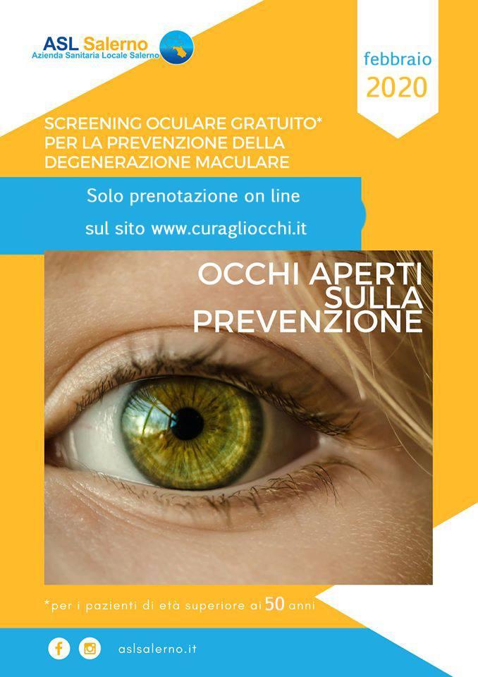 Prevenzione e diagnosi delle degenerazioni maculari, visite gratuite