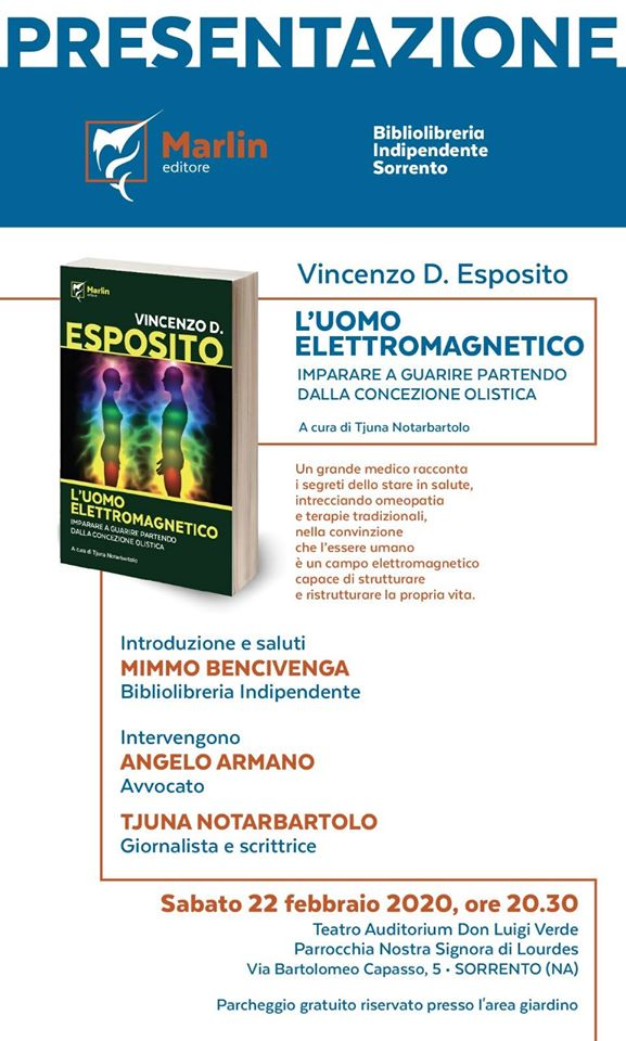 """Domani a Sorrento la presentazione del libro """"L'uomo elettromagnetico"""""""