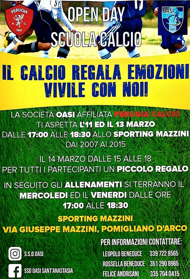 S.Anastasia-Pomigliano. Il progetto sportivo per i minori a rischio