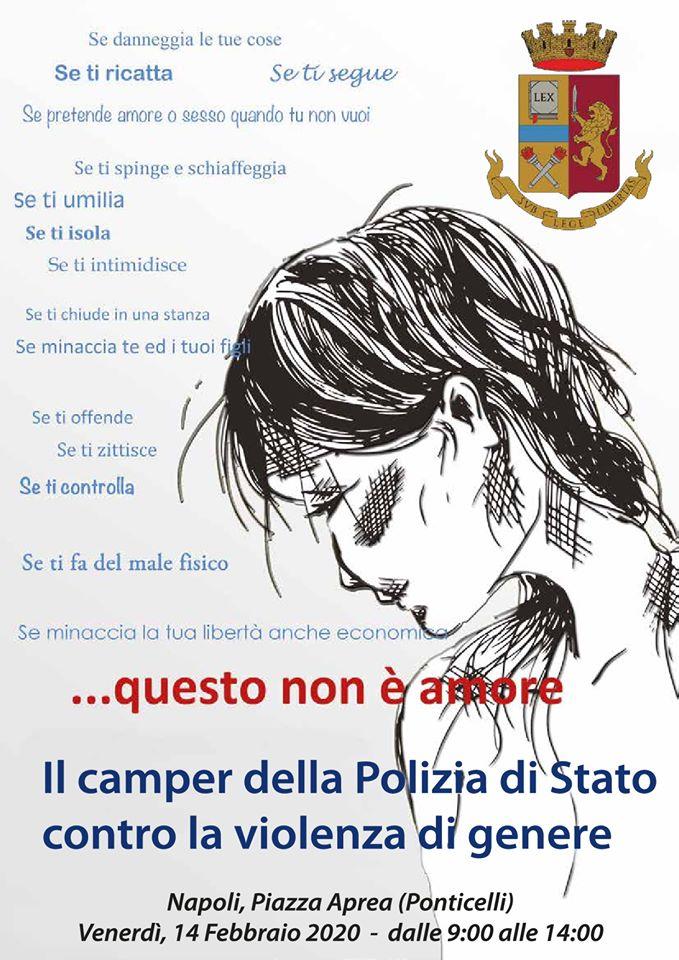 Violenza di genere, il camper informativo della polizia di Stato