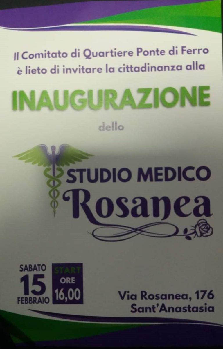 """S.Anastasia. """"Studio medico Rosanea"""", l'inaugurazione al quartiere Starza"""