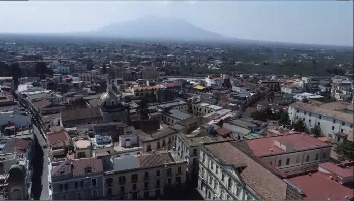 Immagine drone in volo su Nola
