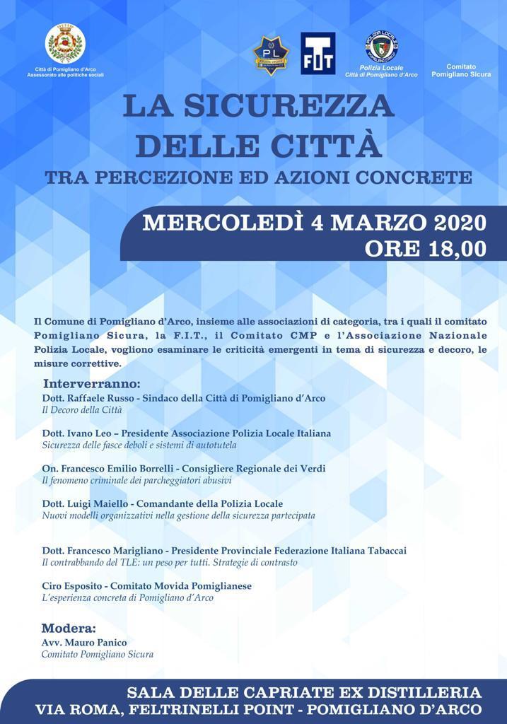 Sicurezza in città, convegno a Pomigliano d'Arco