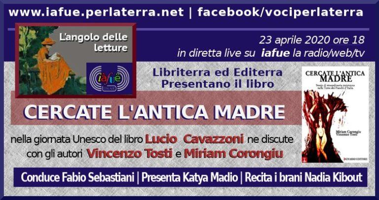 """Giornata del libro, in web radio la presentazione """"Cercate l'antica madre"""""""