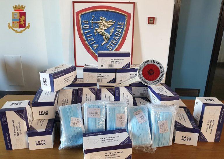 Mascherine contraffatte destinate a commerciante di Somma: sequestro