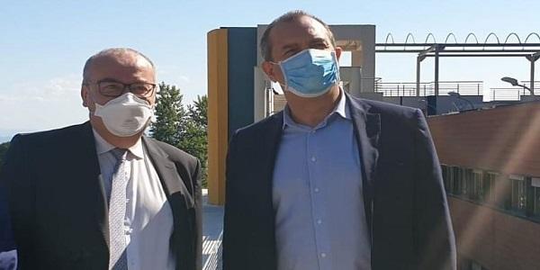 """De Magistris visita l'Ospedale Cotugno: """"Orgoglioso della squadra"""""""