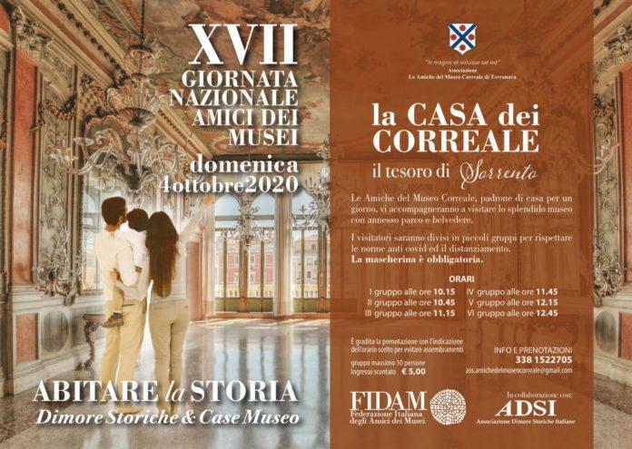 Locandina Abitare la Storia - Museo Correale