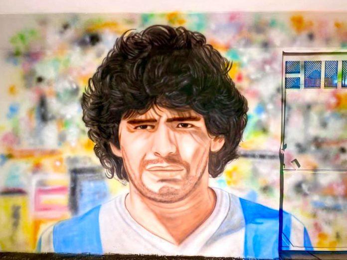 murales maradona bacoli fonte foto pagina social della ragione